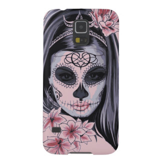 Woman skeleton mask galaxy s5 covers