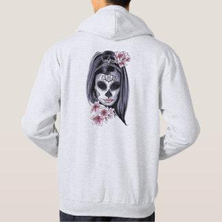 Woman skeleton mask hoodie