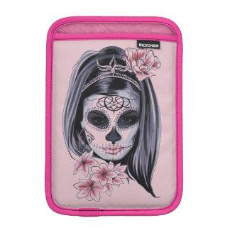 Woman skeleton mask iPad mini sleeve