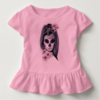 Woman skeleton mask toddler t-shirt