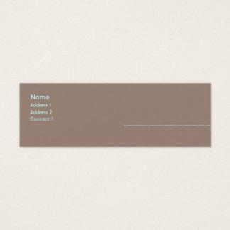 Woman - Skinny Mini Business Card