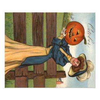 Woman Smiling Jack O' Lantern Pumpkin Farm Photograph