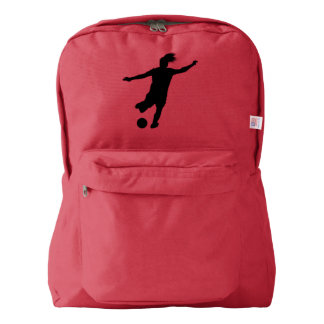Woman Soccer Player Backpack