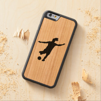 Woman Soccer Player Carved Cherry iPhone 6 Bumper Case