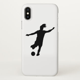 Woman Soccer Player iPhone X Case