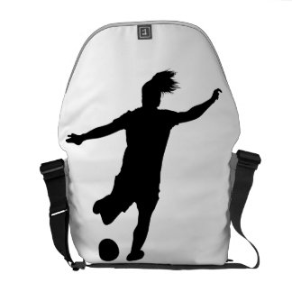 Woman Soccer Player Messenger Bag