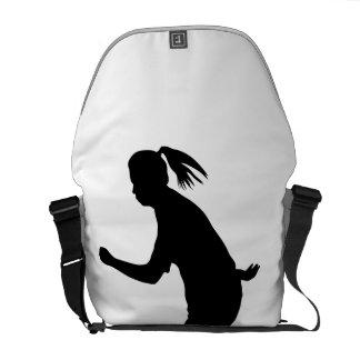 Woman Soccer Player Messenger Bag