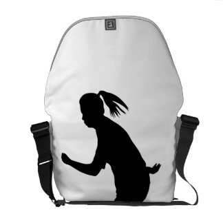 Woman Soccer Player Messenger Bags