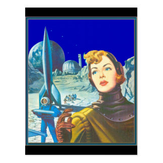 Woman Space Cadet Postcard
