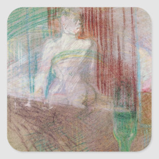 Woman standing behind a table, from 'Elles', 1889 Square Sticker