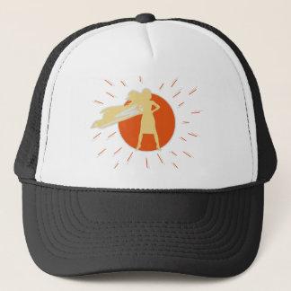 woman-superstar trucker hat