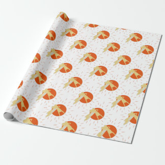 woman-superstar wrapping paper
