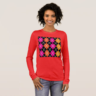 Woman t-shirt RED with design blocks