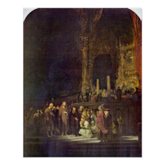 Woman taken in Adultery by Rembrandt van Rijn Poster