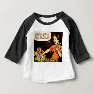Woman Thinks she Understand a Man Baby T-Shirt