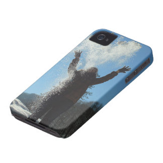 Woman throwing snow iPhone 4 cover