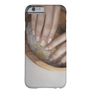 Woman touching bowl of sugar barely there iPhone 6 case