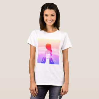 Woman tshirt with Meditation girl