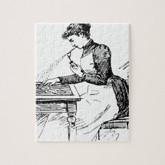 Woman Using Old Airbrush Jigsaw Puzzle