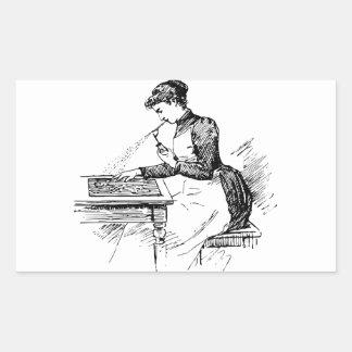 Woman Using Old Airbrush Sticker