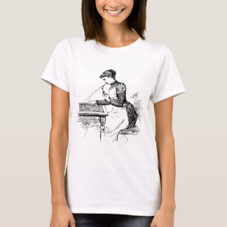 Woman Using Old Airbrush T-Shirt