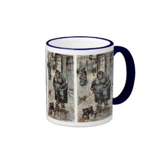 Woman Walking Her Dog by Vincent Van Gogh Coffee Mug