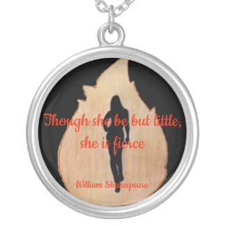 woman walking through fire with quote necklace