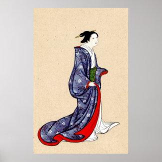 Woman Wearing Robe and Kimono 1878 Poster
