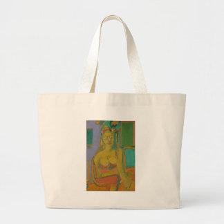 woman William De Koonig Large Tote Bag