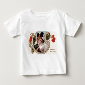 Woman Winter Holly Rose Mistletoe Baby T-Shirt