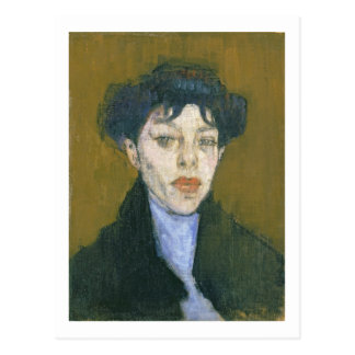 Woman with a Blue Scarf, c.1912 (oil on canvas) Postcard