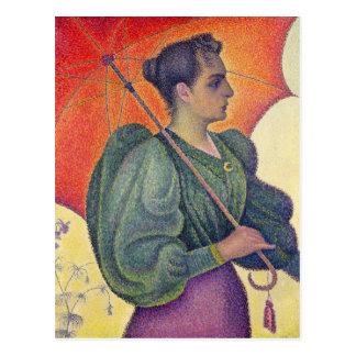 Woman with a Parasol, 1893 Postcard