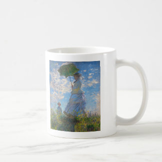 Woman with a Parasol by Claude Monet Coffee Mug
