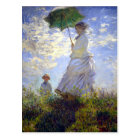 Woman with a Parasol by Claude Monet Postcard