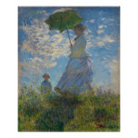 Woman with a Parasol by Claude Monet Print