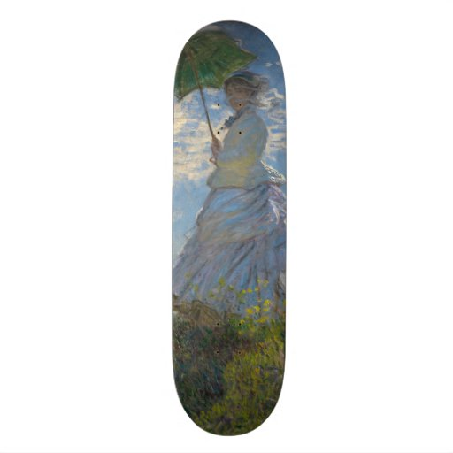 Woman with a Parasol by Claude Monet Skate Decks