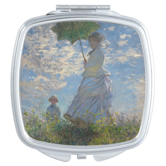 Woman with a Parasol by Claude Monet Travel Mirrors