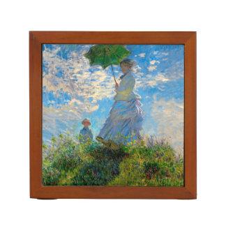 Woman with a Parasol Claude Monet Impressionist Desk Organizer