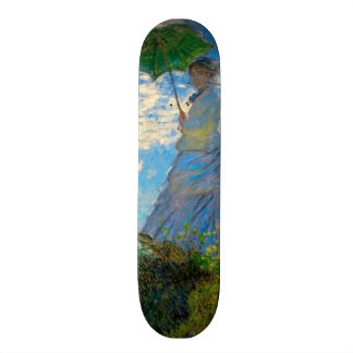 Woman with a Parasol Claude Monet Impressionist Skate Board