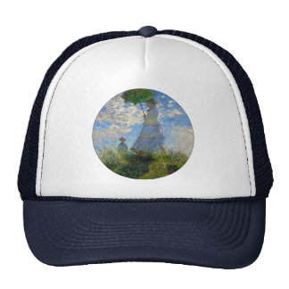 Woman with a Parasol Claude Monet Impressionist Trucker Hat