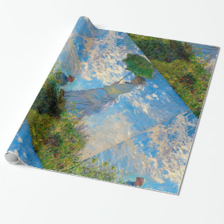 Woman with a Parasol Claude Monet Impressionist Wrapping Paper