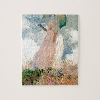 Woman with a Parasol - Claude Monet Jigsaw Puzzle