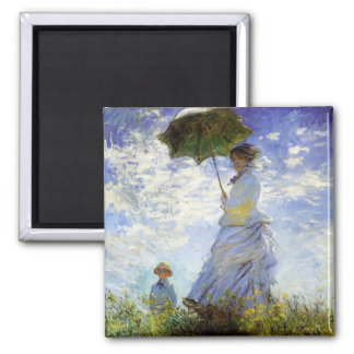 Woman with a Parasol Magnet