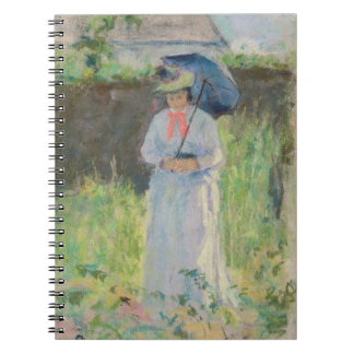 Woman with a Parasol (pastel on paper) Spiral Notebook