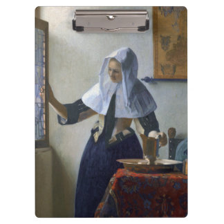 Woman with a Water Jug by Johannes Vermeer Clipboard
