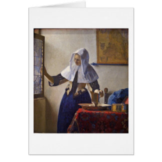 Woman With A Water Pitcher. By Johannes Vermeer Card
