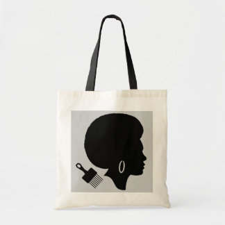 WOMAN WITH AFRO Budget Tote Bag