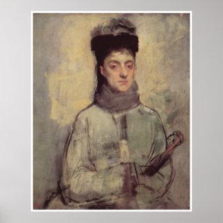 Woman with an Umbrella c 1876 - Edgar Degas Posters