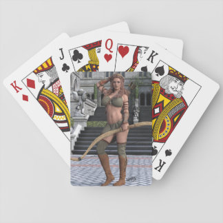 Woman With Arrows Playing Cards