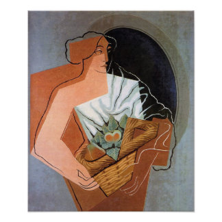 Woman with Basket, by Juan Gris Poster